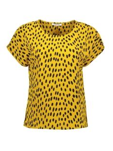 Pieces T-shirt PCJANE SS TOP D2D 17094128 Arrowwood/BLACK DOTS