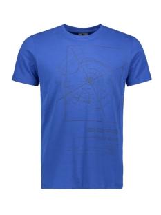 Garcia T-shirt T SHIRT MET PRINT G91002 2284 Maritime Blue