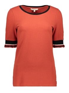 t shirt met ruffle mouwen g90013 garcia t-shirt 3497 rosso