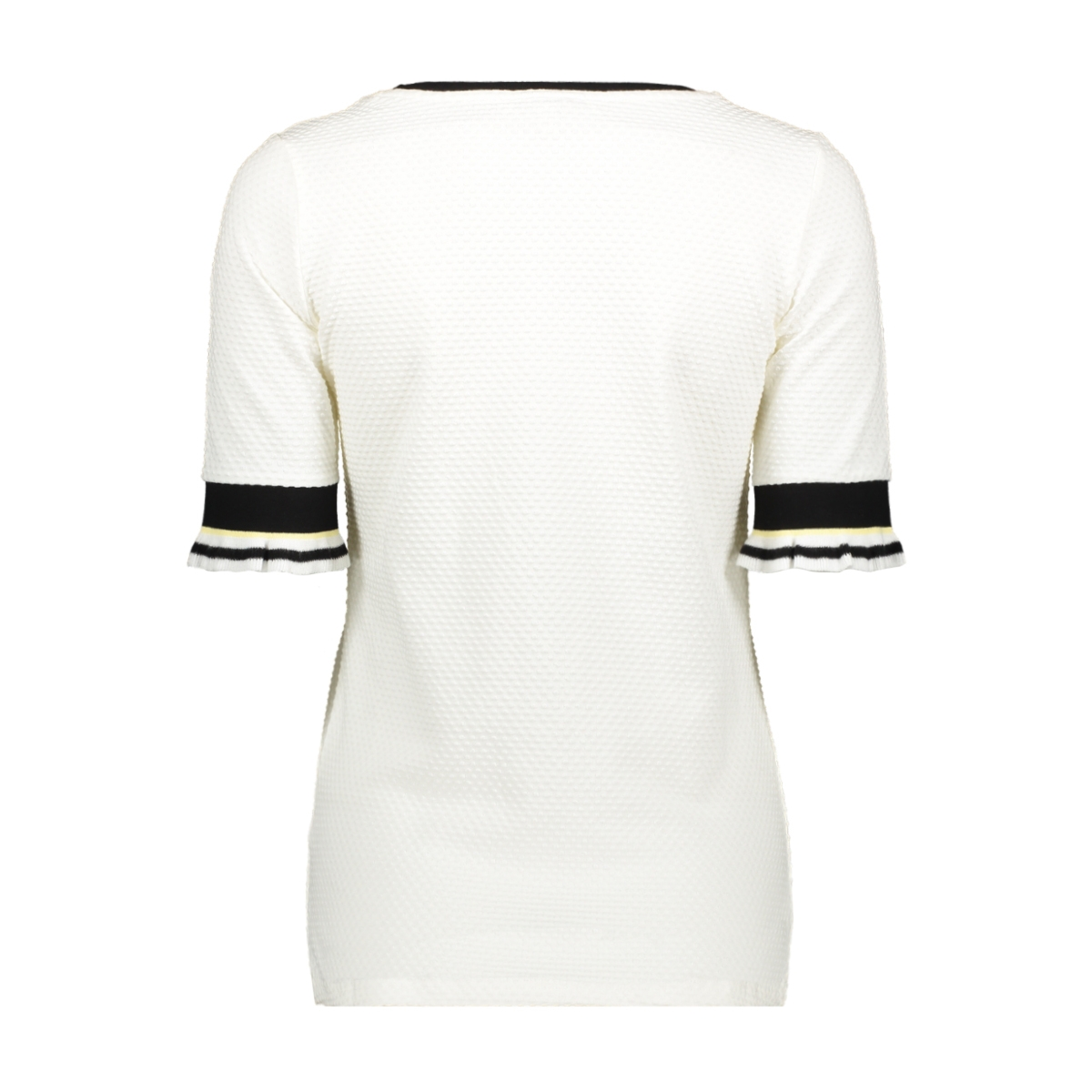 t shirt met ruffle mouwen g90013 garcia t-shirt 53 off white