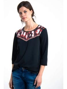 t shirt met drie kwart mouwen g90015 garcia t-shirt 60 black
