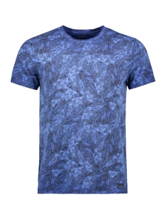 Garcia T-shirt T SHIRT MET ALL OVER PRINT G91008 2284 Maritime Blue