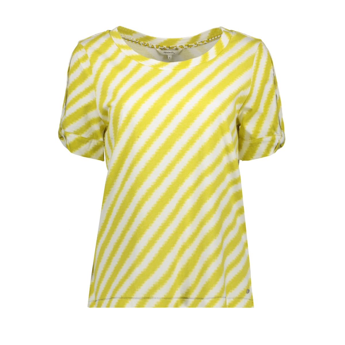 t shirt met open mouw 21101517 sandwich t-shirt 50102