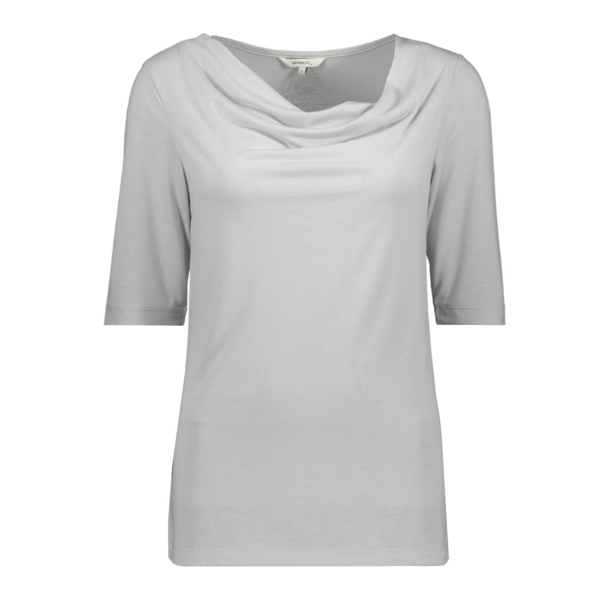t shirt met waterval hals 21101707 sandwich t-shirt 80042