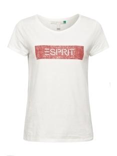 Esprit T-shirt SHIRT MET LOGO 089EE1K035 E110