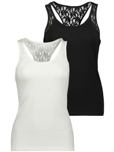Vero Moda Top VMMAXI MY SOFT LACE BOXER TOP 2PACK 10215294 Snow White/BLACK
