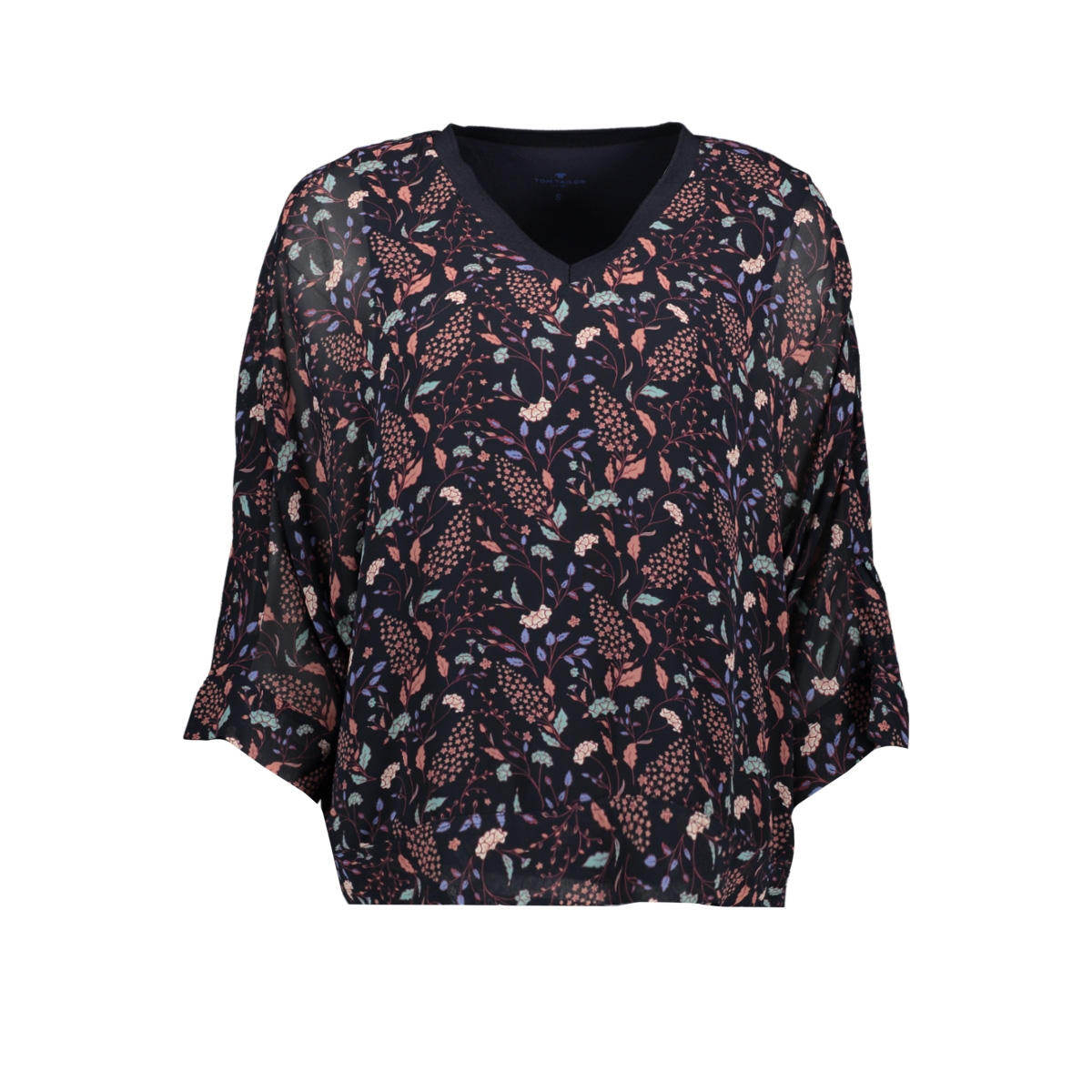 t shirt met bloemenprint 1013409xx70 tom tailor t-shirt 19408