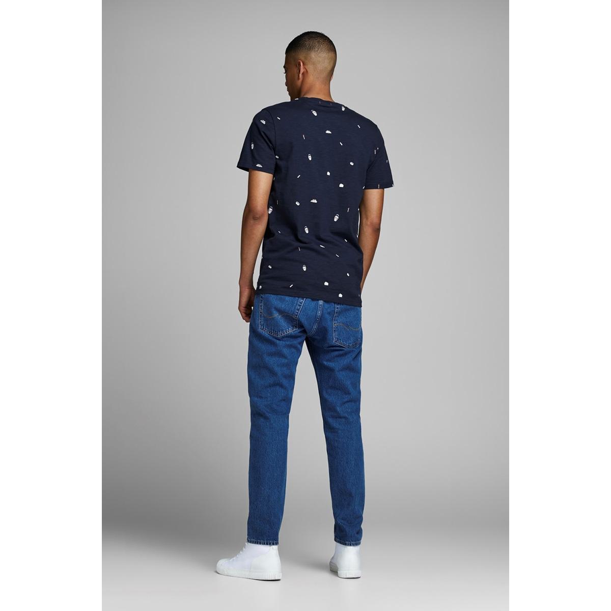 jordely tee ss crew neck 12158030 jack & jones t-shirt navy blazer/slim fit