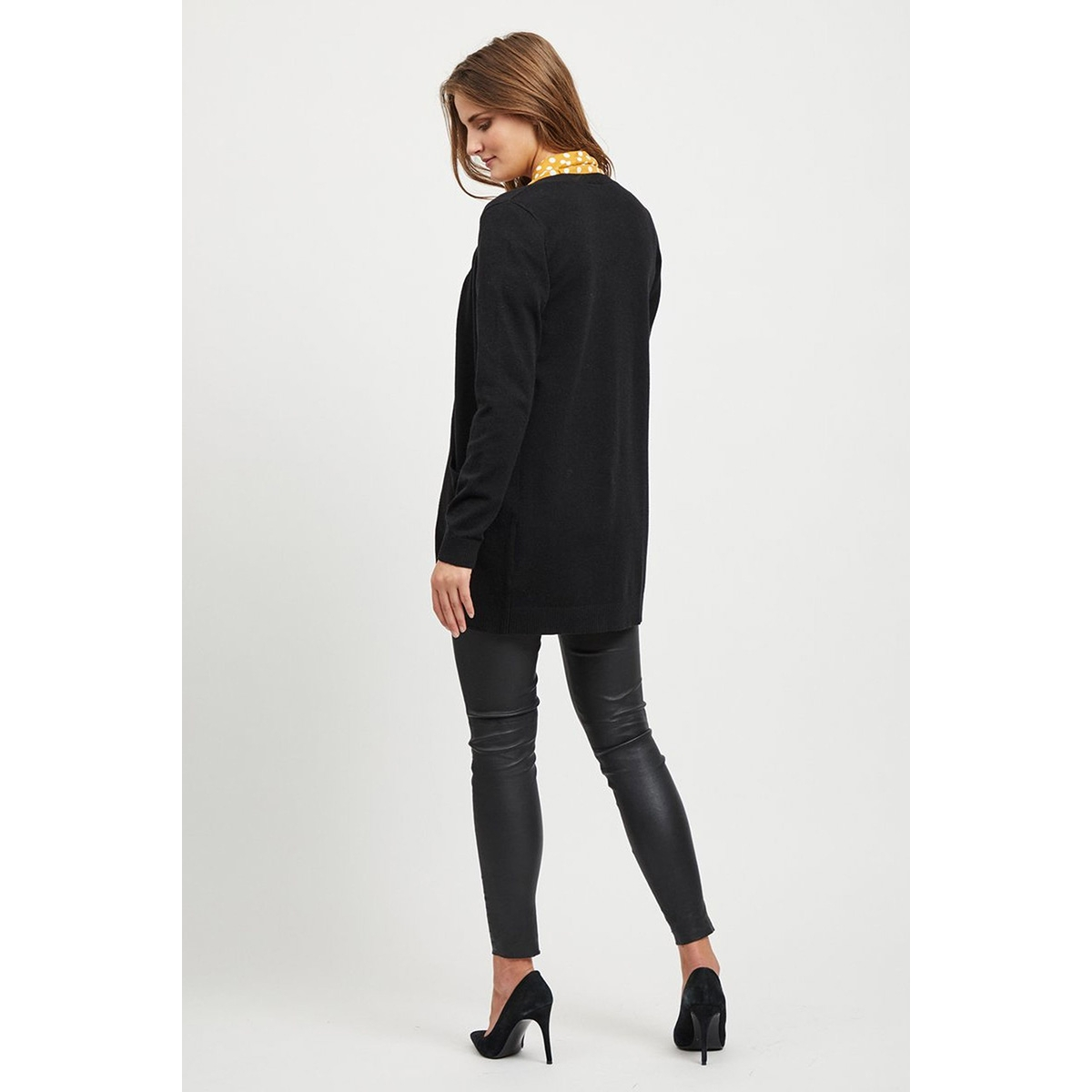 objthess l/s cardigan noos 23028514 object vest black