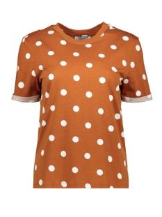 pcria ss fold up print tee dark d2d 17096049 pieces t-shirt picante/big dots