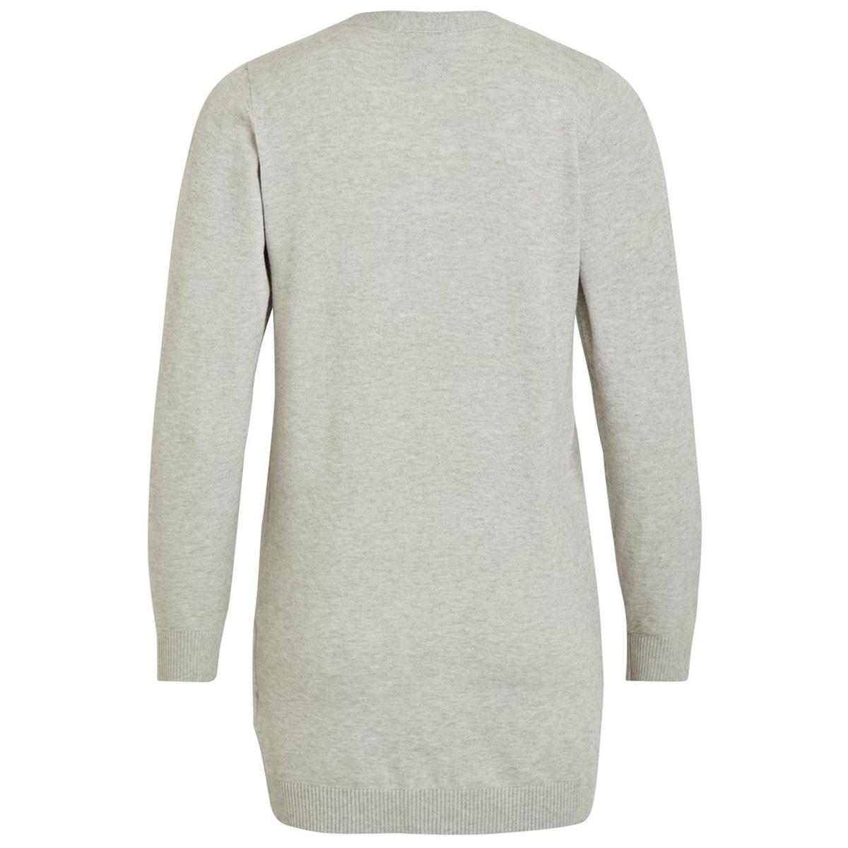 objthess l/s cardigan noos 23028514 object vest light grey melange