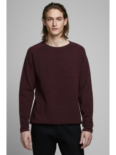 Jack & Jones Trui JJEHILL KNIT CREW NECK NOOS 12157321 Port Royale/TWISTED WI