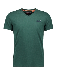 Superdry T-shirt OL VINTAGE EMBROIDERY VEE TEE M1000021A BUCK GREEN MARL
