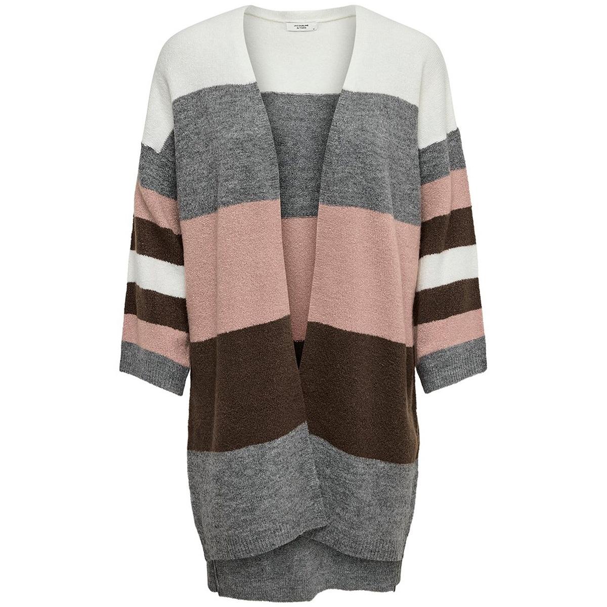 jdynora treats 7/8 cardigan knt 15176719 jacqueline de yong vest woodrose/stripe