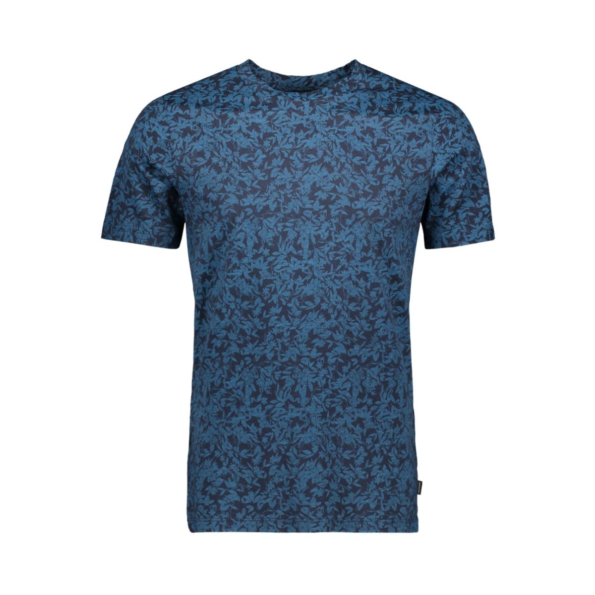 jprflower bla. tee ss crew neck 12158942 jack & jones t-shirt navy blazer/slim fit