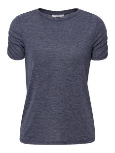 EDC T-shirt T SHIRT MET GERIMPELDE MOUWEN 089CC1K007 C404