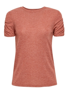 EDC T-shirt T SHIRT MET GERIMPELDE MOUWEN 089CC1K007 C809