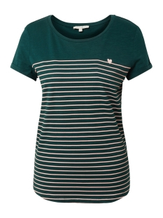 t shirt met streep patroon 1012686xx71 tom tailor t-shirt 18815