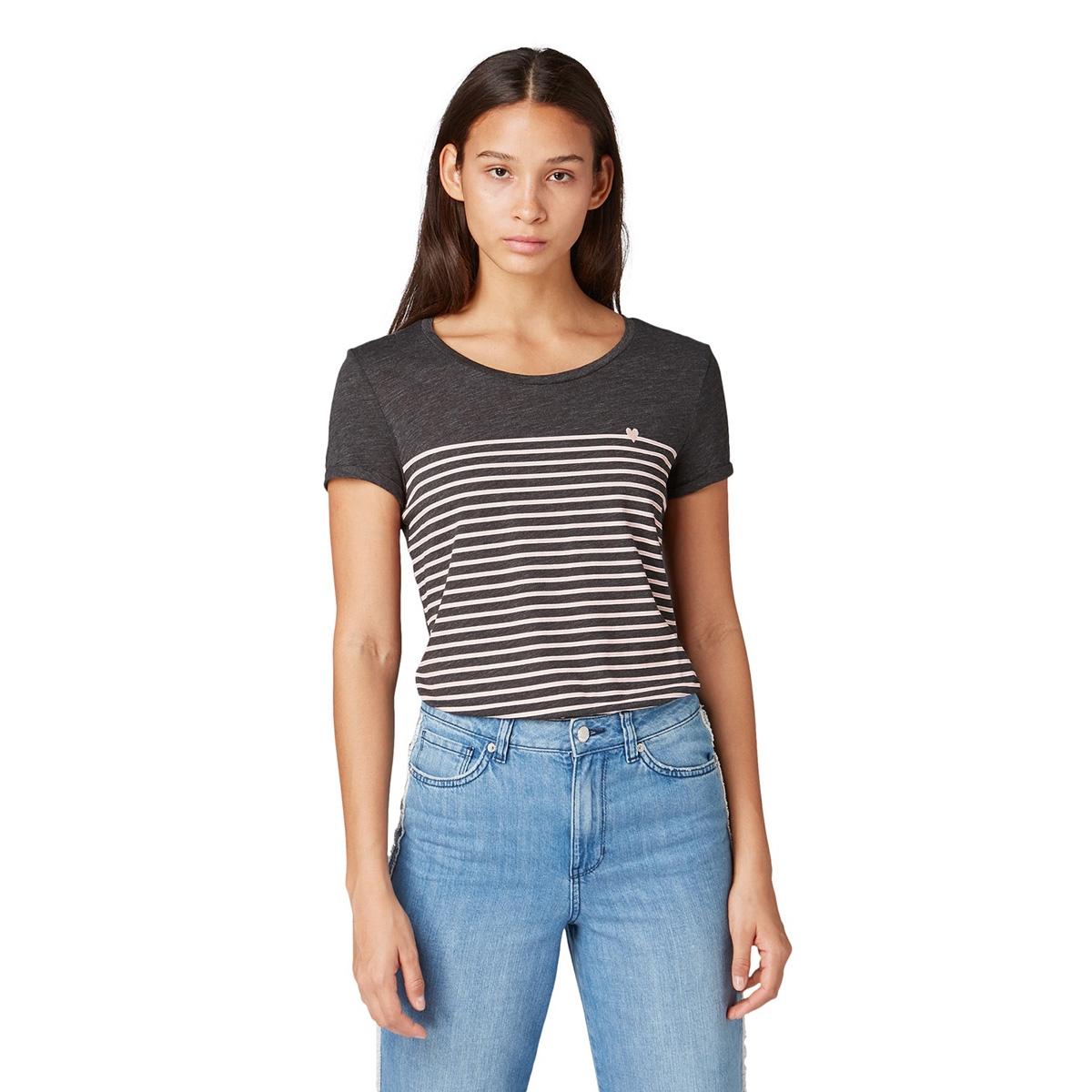 t shirt met streep patroon 1012686xx71 tom tailor t-shirt 19022
