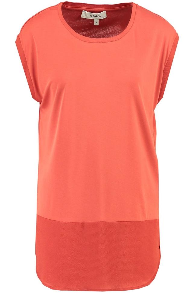 lange top gs900702 garcia t-shirt 3497 rosso