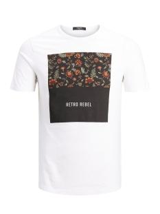 Jack & Jones T-shirt JPRGRAY BLA. TEE SS CREW NECK 12159443 White/SLIM FIT