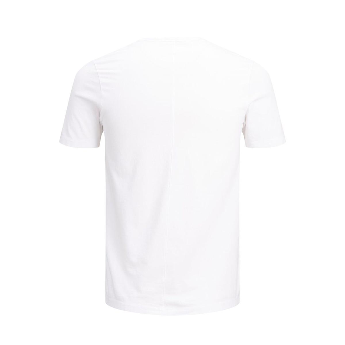 jprgray bla. tee ss crew neck 12159443 jack & jones t-shirt white/slim fit