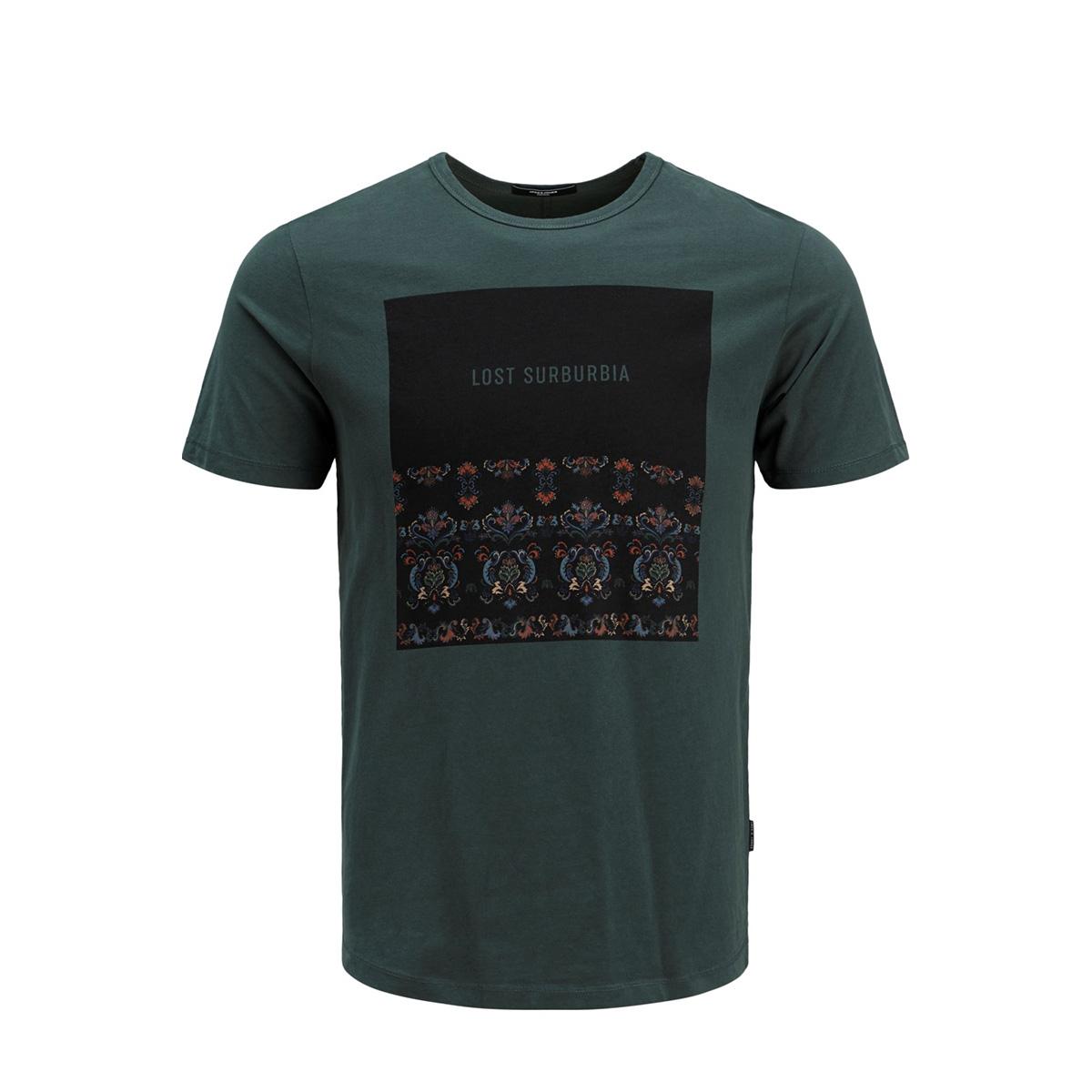 jprgray bla. tee ss crew neck 12159443 jack & jones t-shirt darkest spruce/slim fit