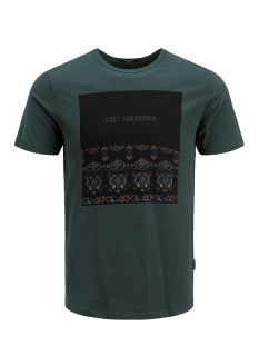 Jack & Jones T-shirt JPRGRAY BLA. TEE SS CREW NECK 12159443 Darkest Spruce/SLIM FIT