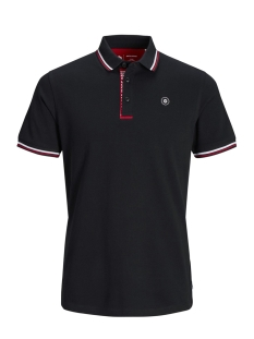 Jack & Jones Polo JCOCHALLENGE POLO SS NOOS 12145116 Black/REG - TANGO RED