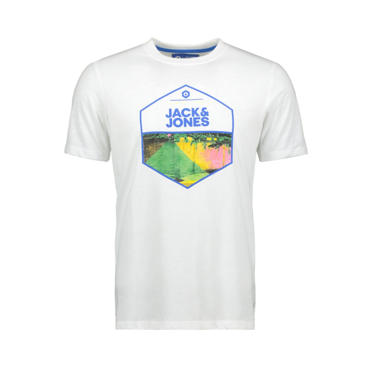 jcosimon tee ss cn 12155026 jack & jones t-shirt white/slim