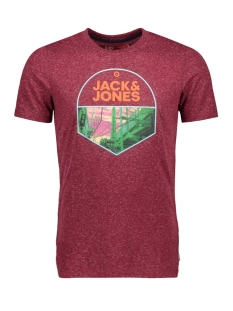 Jack & Jones T-shirt JCOSIMON TEE SS CN 12155026 Rhododendron/SLIM
