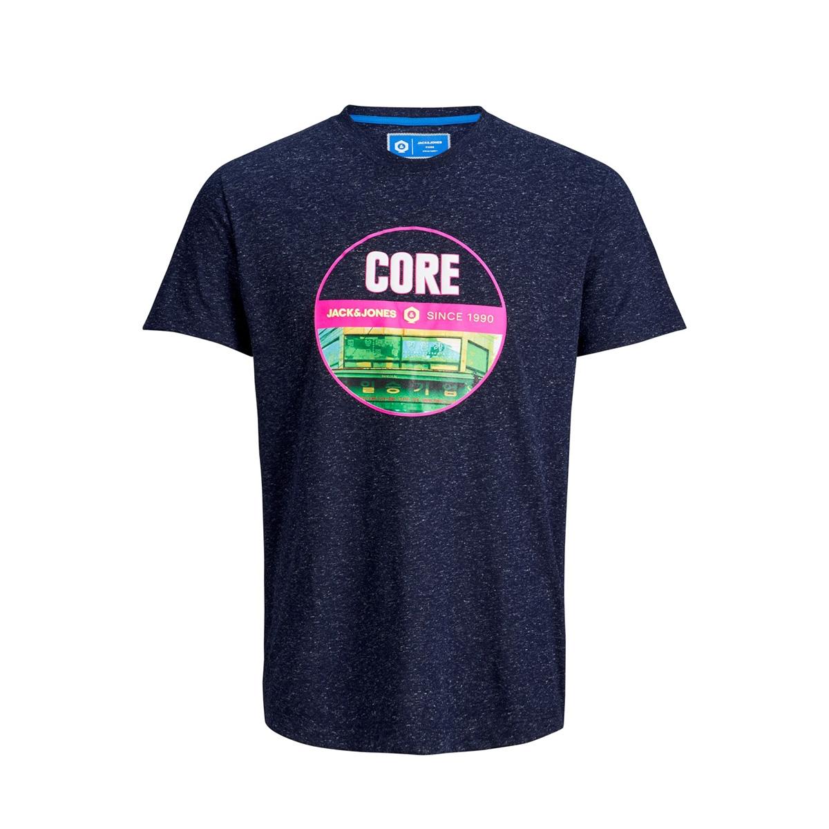 jcosimon tee ss cn 12155026 jack & jones t-shirt maritime blue/slim