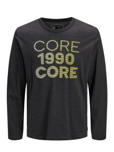 Jack & Jones T-shirt JCOAUSTINI TEE LS CREW NECK 12157989 Black/SLIM