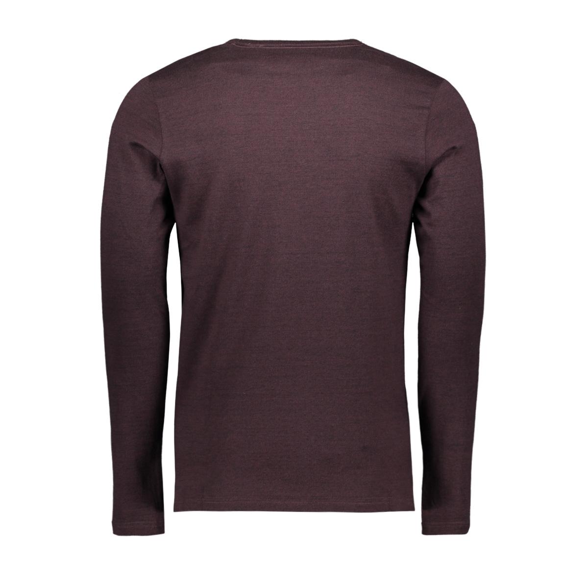 jcoaustini tee ls crew neck 12157989 jack & jones t-shirt fudge/slim