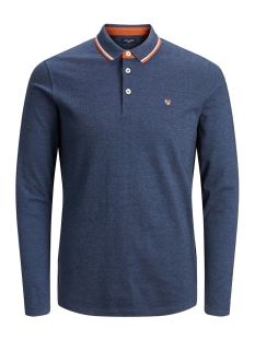 Jack & Jones Polo JPRPAULOS PLAY BLU. POLO LS 12159017 True Navy/MIXED WITH