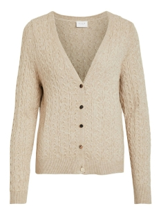 Vila Vest VIRIL KNIT L/S CABLE CARDIGAN 14053657 Naturel Melange
