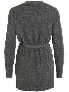 vivikka l/s knit belt cardigan 14054340 vila vest dark grey melange