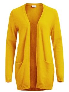 viril l/s  open knit cardigan-fav 14044095 vila vest golden rod/melange