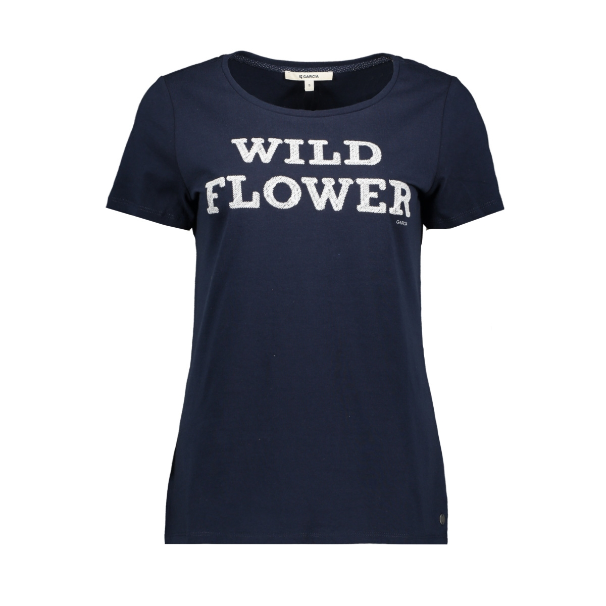 t shirt met tekst h90203 garcia t-shirt 292 dark moon