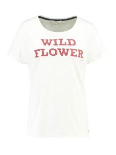 Garcia T-shirt T SHIRT MET TEKST H90203 53 Off White