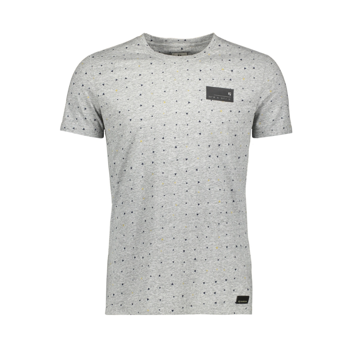 t shirt met all over print h91204 garcia t-shirt 2351 shale melee