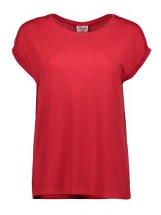 vmava plain ss top ga color 10195724 vero moda t-shirt chinese red