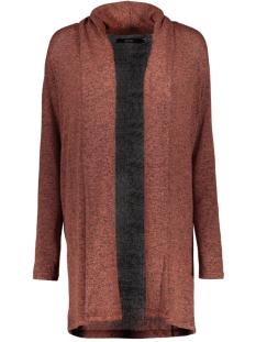 Vero Moda Vest VMBRIANNA LS SHAWLCOLLAR CARDIGAN B 10215798 Mahogany/W. BLACK M