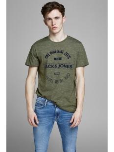 jcomick tee ss crew neck noos 12152172 jack & jones t-shirt winter moss/slim