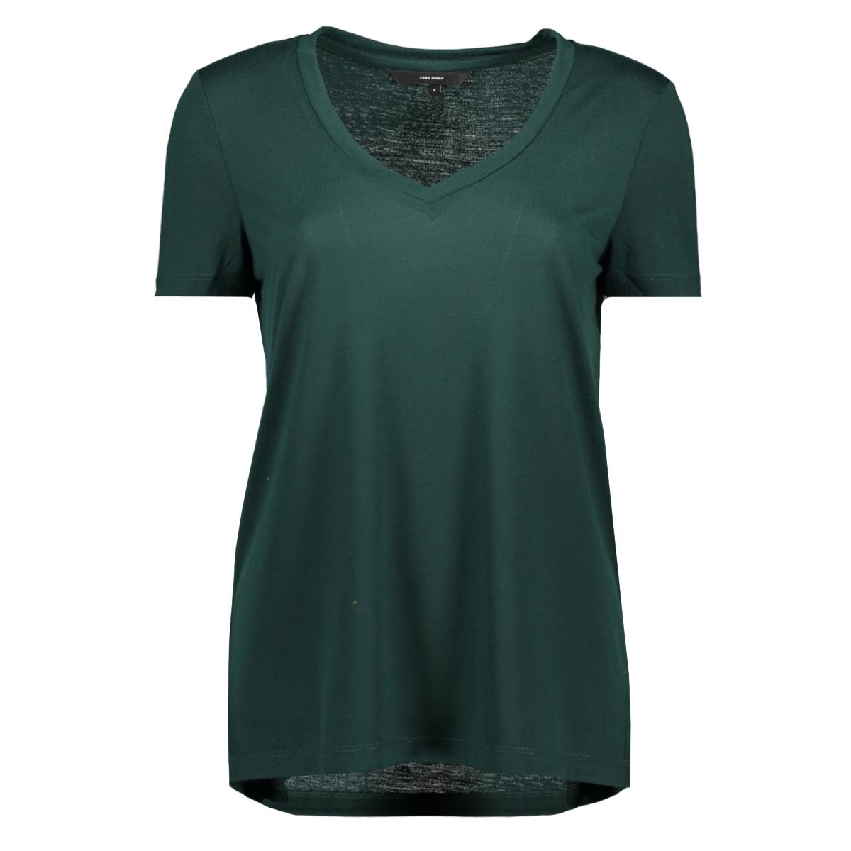 vmspicy v-neck ss top color 10191891 vero moda t-shirt ponderosa pine