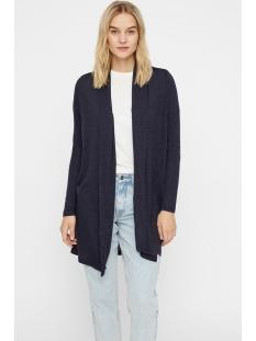 vmbrianna ls shawlcollar cardigan b 10215798 vero moda vest night sky/w. black m