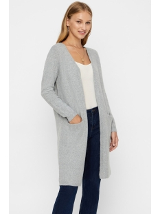 vmdoffy ls long open cardigan noos 10215434 vero moda vest light grey melange