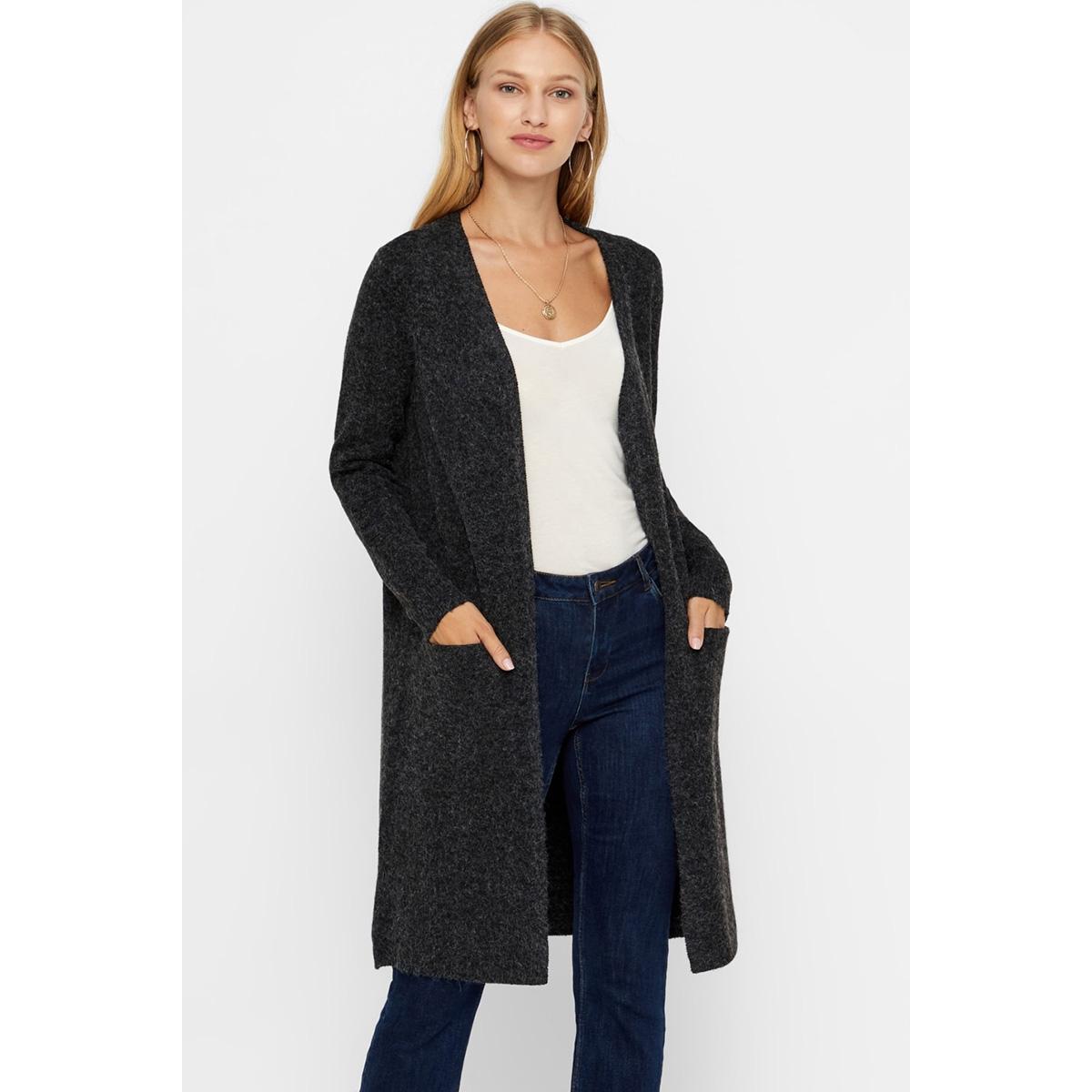 vmdoffy ls long open cardigan noos 10215434 vero moda vest black/melange