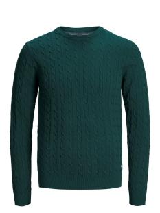 jprrichard knit crew neck 12155363 jack & jones trui ponderosa pine