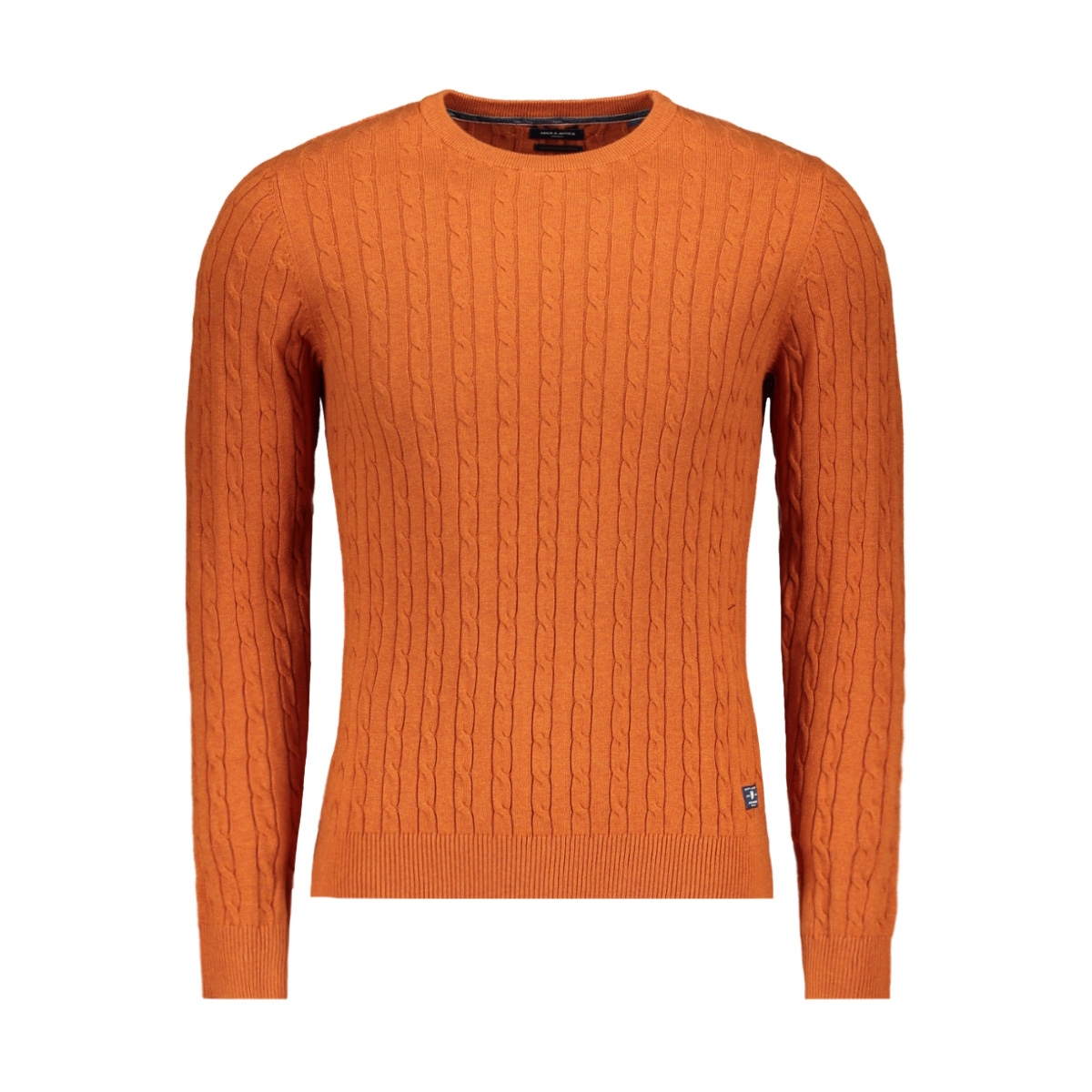 jprrichard knit crew neck 12155363 jack & jones trui cinnamon stick/melange